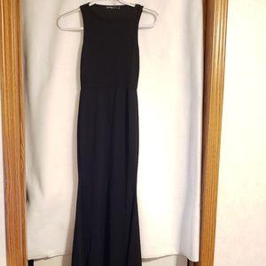 Boohoo Petite Black Fishtail Maxi dress